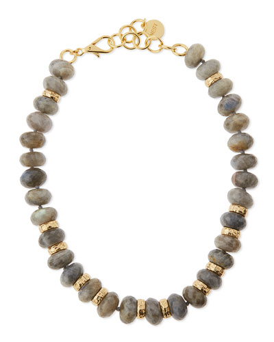 Chunky Labradorite Bead Necklace