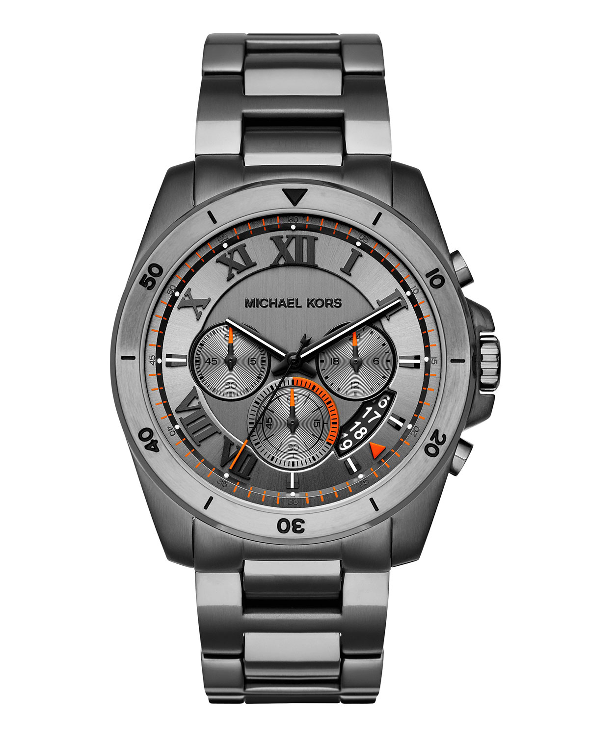 Brecken 44mm Chronograph Watch, Gunmetal