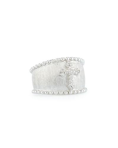 Guinevere Pavé Diamond Cross Ring