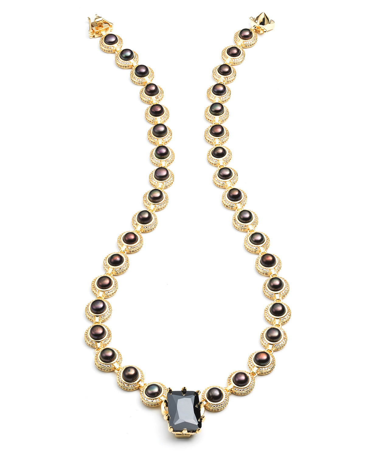 Estate Rose Pearl Necklace
