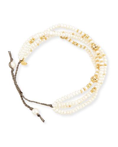 Pearl Silk Cord Bracelet