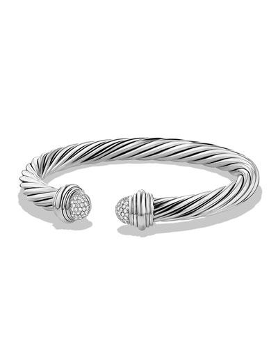 7mm Pavé Diamond Dome Bracelet