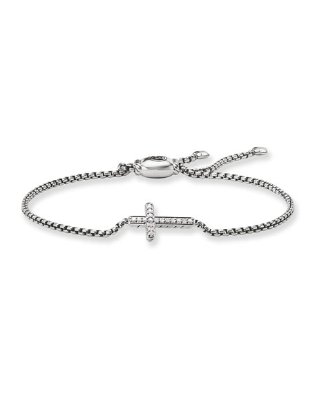 David Yurman Petite Pave Diamond Cross Bracelet