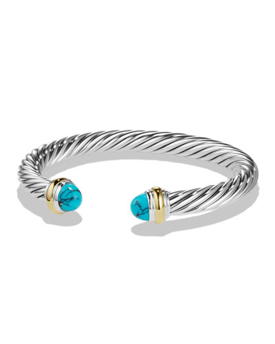 Classic Cable Chinese Turquoise 7mm Bracelet