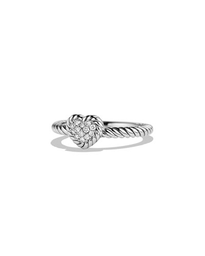 8mm Valentine Hearts Diamond Ring