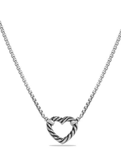 Reversible Heart Station Pendant Necklace