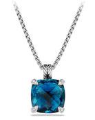 14mm Châtelaine Hampton Blue Topaz Pendant Necklace