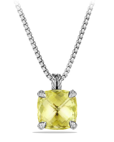 14mm Châtelaine Lemon Citrine Pendant Necklace