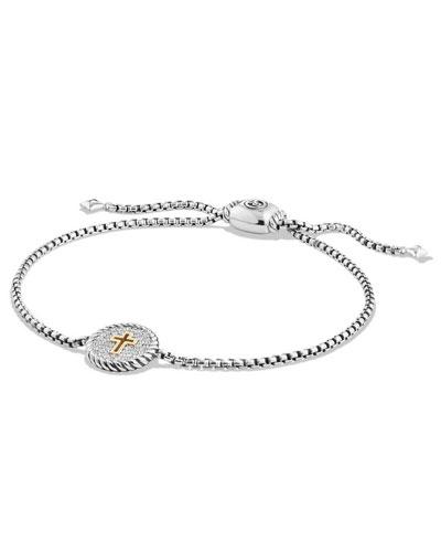 Petite Pavé Diamond Cross Bracelet