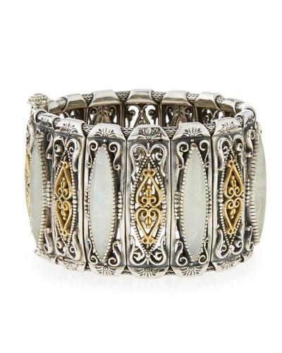 Erato Linked Labradorite Cuff Bracelet