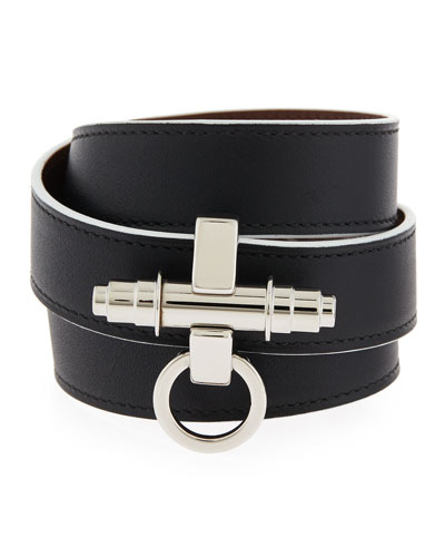Obsedia Leather Wrap Bracelet