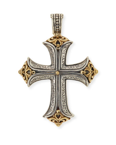 Carved Maltese Cross Pendant