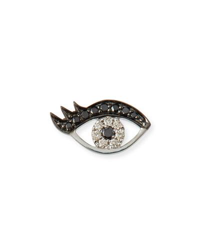 Small Eyelash Evil Eye Stud Earrings