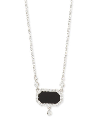 18K White Gold Art Deco Jade & Diamond Necklace
