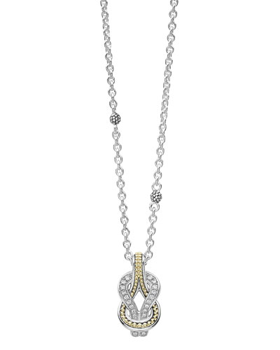 Newport 18K Gold Diamond Rope Pendant Necklace