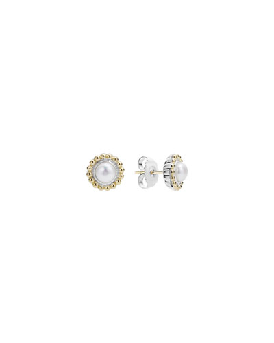 6mm 18K Gold Luna Pearl Earrings