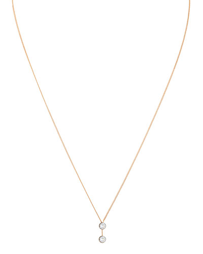 O'Hara 24K Rose Gold Solitaire Y-Drop Necklace