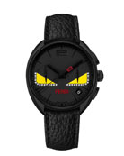 40mm Ladies' Monster Eyes Chronograph Watch, Black
