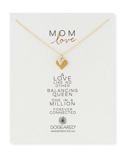 Mom Love Heart Pendant Necklace