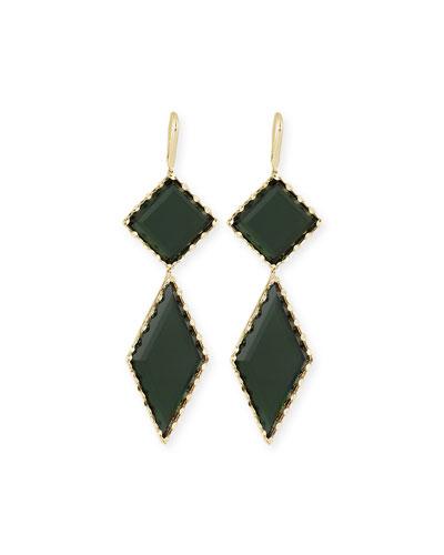 14K Gold Midnight Drop Earrings