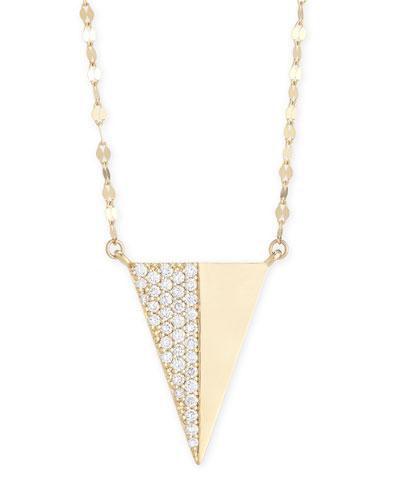 Electric Diamond Triangle Pendant Necklace
