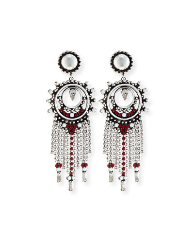 Vitula Crystal Fringe Drop Earrings