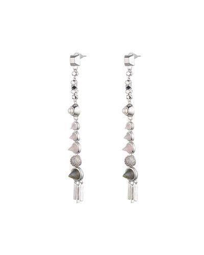 Assemblage Rose Quartz Spike Drop Earrings