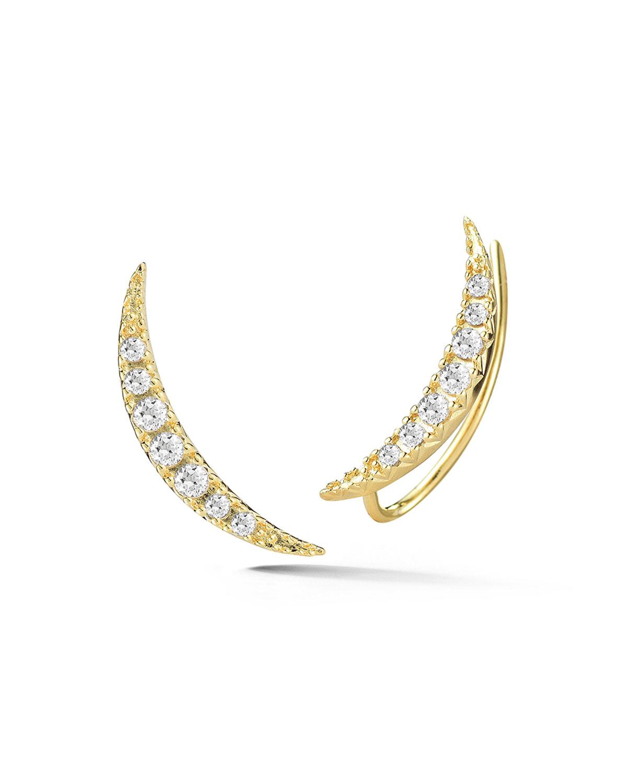 Luna Crystal Crawler Earrings