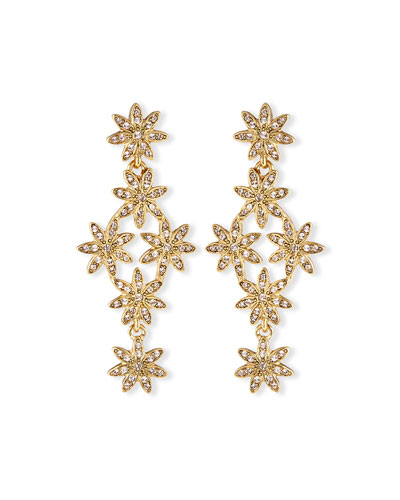 Pavé Swarovski® Flower Drop Earrings