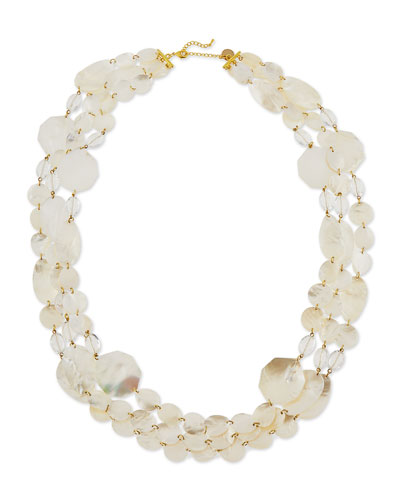 Mother-of-Pearl Three-Strand Necklace