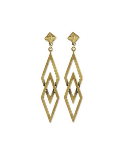 Dakota Brass Statement Earrings
