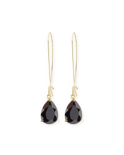 Teardrop Crystal Golden Wire Drop Earrings