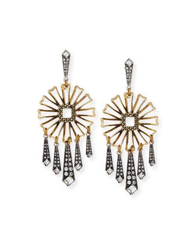 Daisy Floral Fringe Statement Earrings