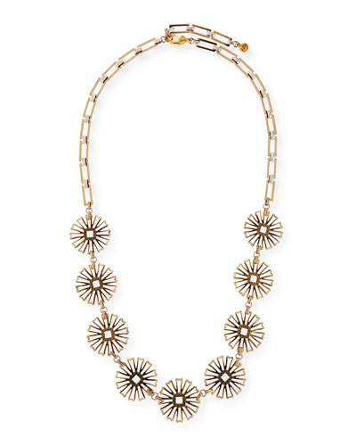Daisy Long Floral-Station Necklace, 34.5