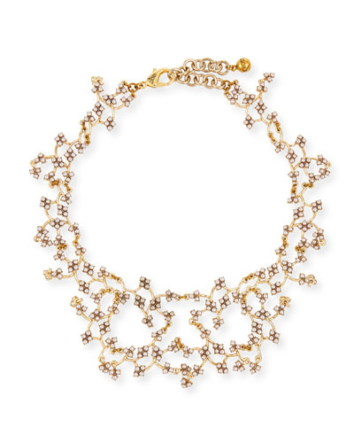 Jackie Crystal Web Necklace