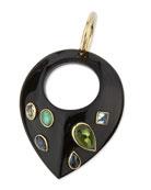 Kuangusha Jeweled Dark Horn Pendant