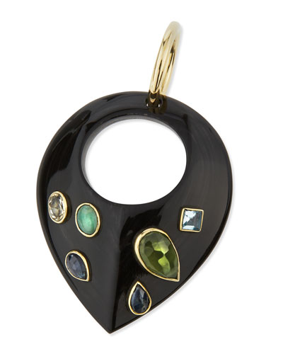 Kuangusha Jeweled Dark Horn Pendant