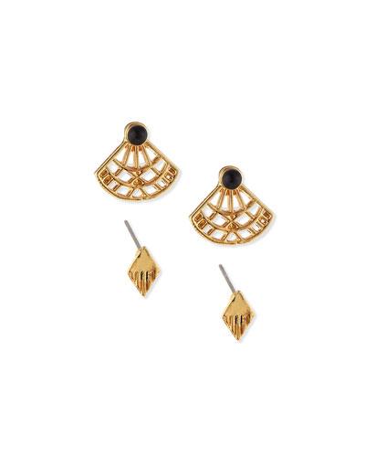 Katerina Fan Stud Earrings