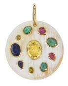 Taka Multi-Stone Pendant Enhancer, Light Horn