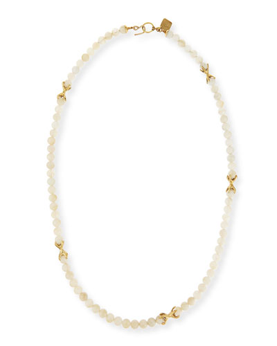 Roho Moonstone Bead Necklace, 36