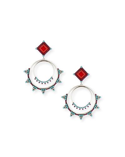 Ubaldo Round Drop Earrings