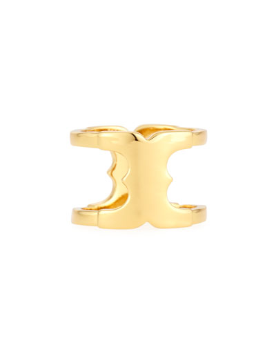 Gemini Golden Link Ring