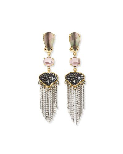 Tassel Chandelier Fringe Earrings