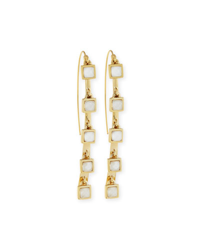Five-Stone Crystal Charm Dangle Earrings