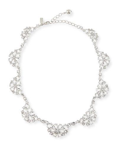 special scallop crystal necklace