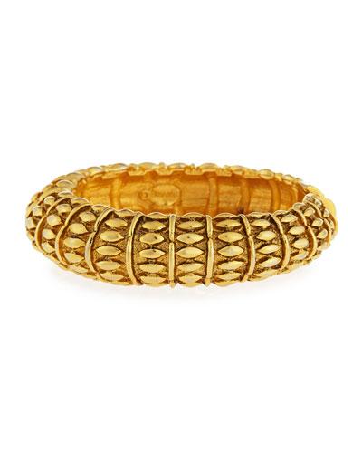 Textured Hinged Bangle Bracelet