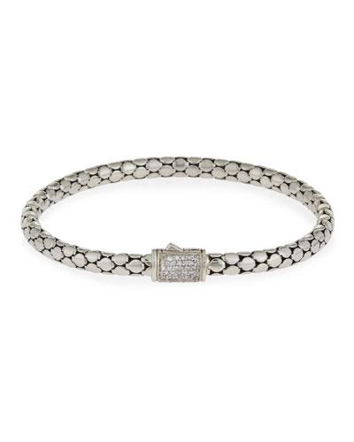 Dot Medium Pavé Diamond Chain Bracelet, 5mm