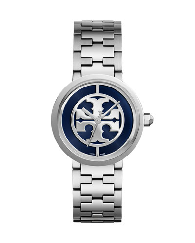 Three-Link Reva Bracelet Strap Watch, Navy