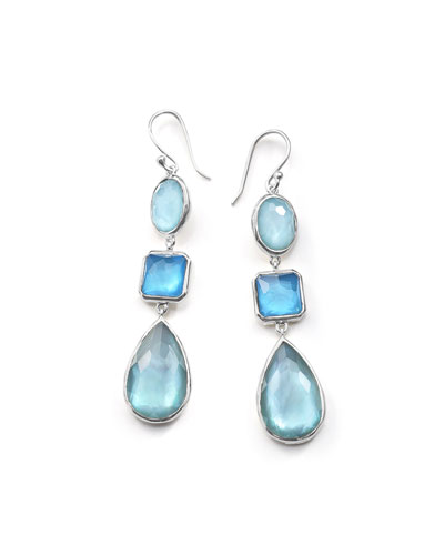 Wonderland Three-Drop Earrings in Blue Star