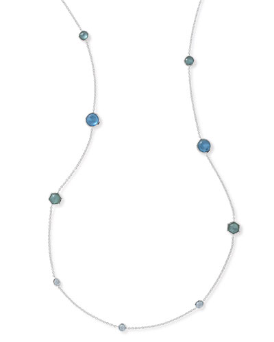 Rock Candy Station Necklace in Blue Star, 42